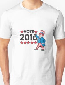 Vote 2016 Uncle Sam Hand Pointing Up Retro T-Shirt