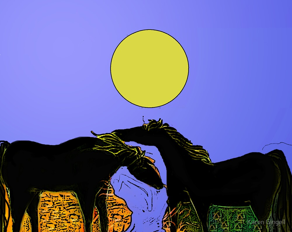 After the Gold Rush - River Pony Sun by Karen Gingell