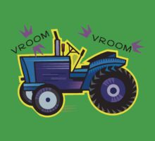 Tractor Time VROOM VROOM. One Piece - Short Sleeve