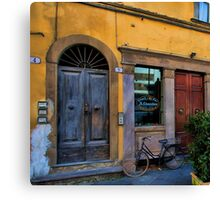 Le Chiacchere Snackbar - Lucca,  Italy Canvas Print