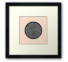 Modern Simple Stripes Pattern Circle Framed Print