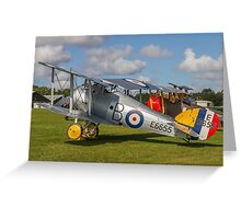 TVAL Sopwith 7F.1 Snipe replica E6655 Greeting Card