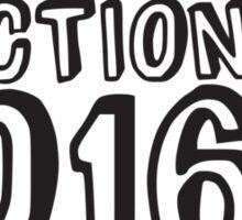 Election 2016 Uncle Sam Shouting Retro Sticker