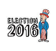 Election 2016 Uncle Sam Shouting Retro Photographic Print