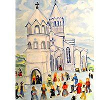 Little White Church, Ghazanchetsots Cathedral, Karabagh, Armenia Photographic Print