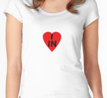I Love Country Code IN-India T-Shirt & Sticker Women's Fitted Scoop T-Shirt