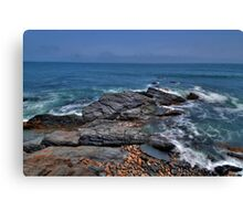 Rocky Shore- Newport Canvas Print