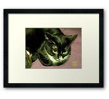 """IittyBitty Kitty sez: """"It's Doubtful"""" Framed Print"""