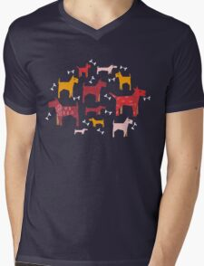 Dogs Funny Mens V-Neck T-Shirt