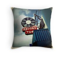 Record Town Throw Pillow