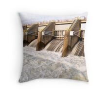 Nimbus Dam Release Throw Pillow