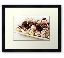 Truffles Framed Print