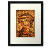 mosaic of roman woman Framed Print