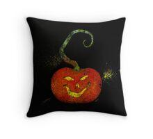 Splatter Art Pumpkin 2 Throw Pillow