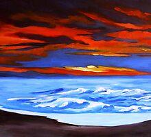 Beach Sunset by signaturelaurel