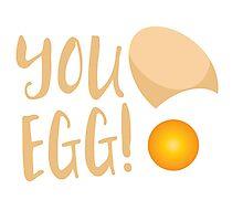 You egg (with golden egg) funny Kiwi Saying Photographic Print
