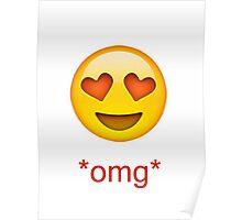 love heart eyes emoji  Poster