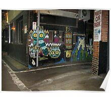 Owl Street Art Melbourne Poster