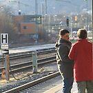 Train station couple by eddiebotha