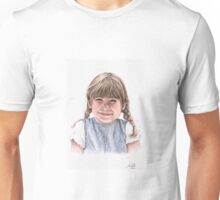Sweet Little Girl Portrait Unisex T-Shirt
