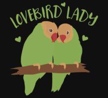 Lovebird Lady (Love Birds cute!) One Piece - Long Sleeve