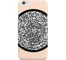 Modern Black & White Scribbles Circle iPhone Case/Skin