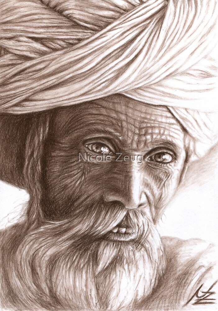 Old Indian Man by Nicole Zeug
