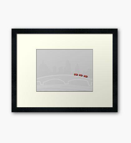 Three Buses Framed Print