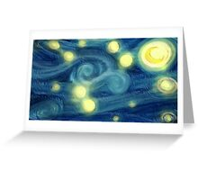 "Van Gogh ""Starry Night"" Doctor Who (digital paint) Greeting Card"