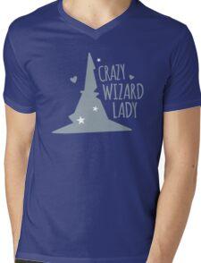 Crazy Wizard Lady Mens V-Neck T-Shirt