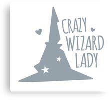 Crazy Wizard Lady Canvas Print