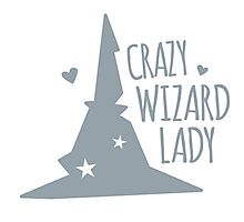 Crazy Wizard Lady Photographic Print
