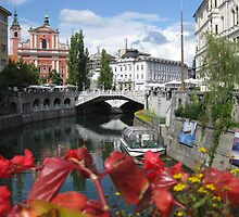 View of river in Ljubljana. by machka