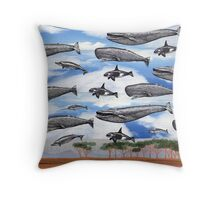Dreaming of Whales in the Desert (Carnivalesque Collage Series) Throw Pillow