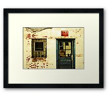 an old facade Framed Print