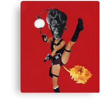 Martial Farts (Carnivalesque Collage Series) Canvas Print