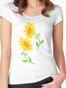 Two Sunflowers Women's Fitted Scoop T-Shirt
