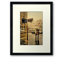 A Big Ship In Town Framed Print
