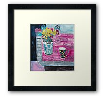 flowers and fabric 3 Framed Print