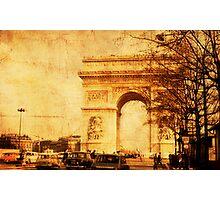 Arc de Triomphe - Paris 1968 Photographic Print