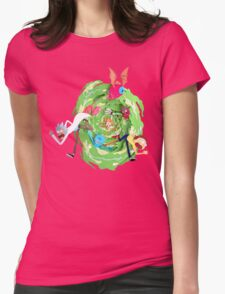 Rick and Morty Womens Fitted T-Shirt