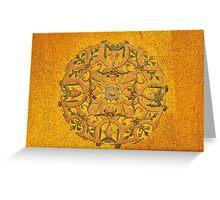 byzantine golden mosaic Greeting Card
