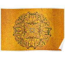 byzantine golden mosaic Poster