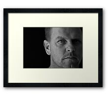 Window to His Soul Framed Print