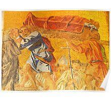 Golden mosaic Poster