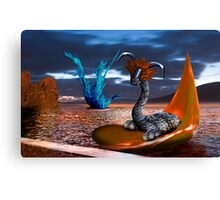 First Appearance of Blue Water Canvas Print