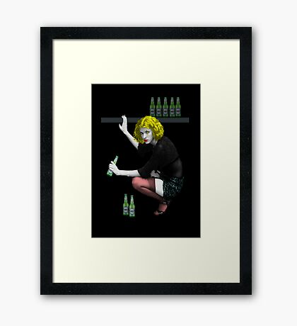 A Biere Blonde Framed Print