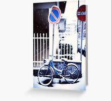 Bike in the snow Greeting Card