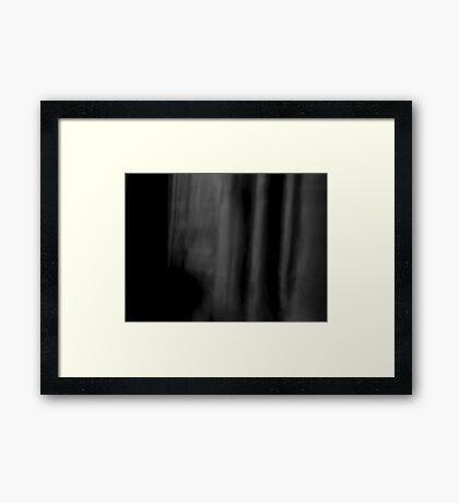 An awful silence Framed Print