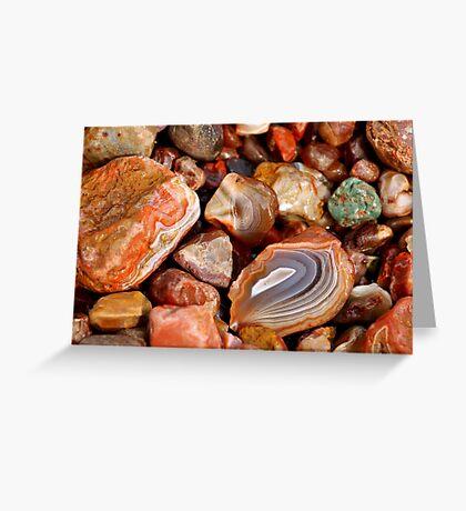 Lake Superior Agate Beach Greeting Card